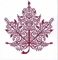 Maple Leaf (cross stitch) Pretty in different fall colors