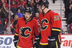 Calgary's dynamic duo of Johnny Gaudreau and Sean Monahan put a goal on a silver platter for Jiri Hudler Thursday. Watch the Flames do their best Globetrotters impression as those contracts for Gaudreau and Monahan keep going up. Hockey Baby, Ice Hockey Teams, Johnny Gaudreau, Nhl Games, Nhl Players, Los Angeles Kings, Detroit Red Wings, S Star, Calgary
