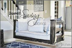 Sawdust and Stitches: Crib Mattress Porch Swing