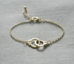 Delicate Handcuff Bracelet  by Jewel of a Girl
