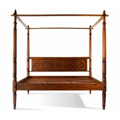Youll be amazed at the beauty, romance, and incredible workmanship that helped to build the Lotus mahogany canopy platform bed. Wood Canopy Bed, Canopy Bed Frame, Wood Beds, Bed Frame Sizes, King Size Bed Frame, Traditional Bedroom, Traditional Furniture