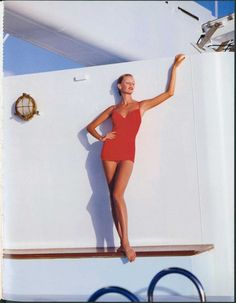 All Aboard! Sarah O'Hare on board Club Med 2, circa 1993. Photographed by Graham Shearer.
