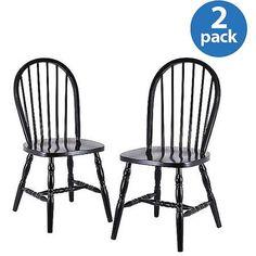 Windsor Chair, Set of 2, Black