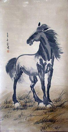 Horse - by  Xu Beihong (1895-1953), China