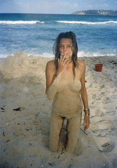 Daria, even though you're covered in sand, I can still see your titties.