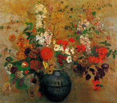 Odilon REDON (1840-1916) ~ Flowers and Butterflies ✿ - Catherine La Rose Poesia…