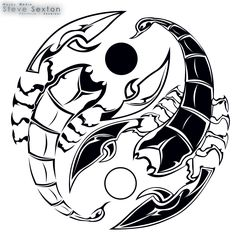 Yin Yang did tattoo × Yin Yang Tattoos, Tribal Tattoos, Body Art Tattoos, Black Tattoos, Scorpio Zodiac Tattoos, Scorpio Art, Scorpio Zodiac Facts, Escorpion Tattoo, Lion Tattoo