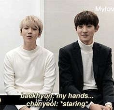 when Chanyeol can't stop looking at Baekhyun's hands