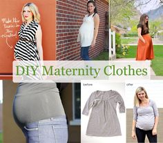 Scissors Out - DIY Maternity Clothes. Click on the pictures and it takes you to the instructions in English.