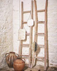 MirrorDeco — Hanging Mirror on Chain (Octagon Shaped Copper Frame Copper Mirror, Copper Frame, Metal Mirror, Small Mirrors, Decorative Mirrors, Window Pane Mirror, Living Room Mirrors, Living Rooms, Ladder Decor