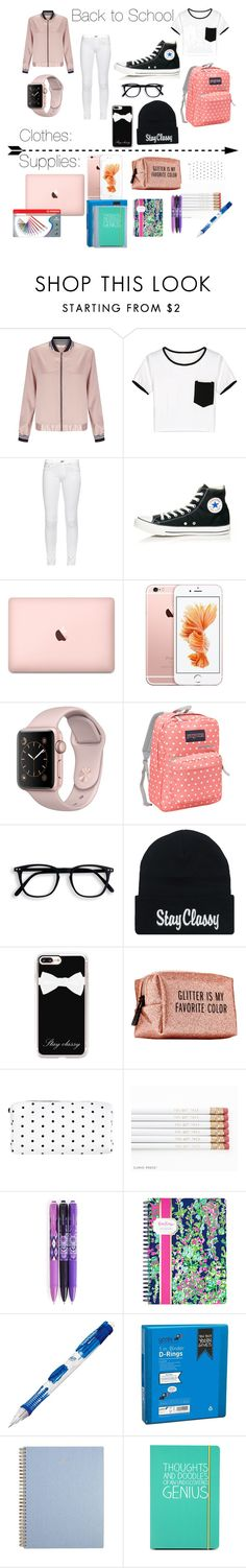 """Back to School"" by fantasymystic-luv on Polyvore featuring Miss Selfridge, WithChic, rag & bone, Converse, JanSport, Casetify, Pinch Provisions, Vera Bradley, Lilly Pulitzer and Paper Mate"