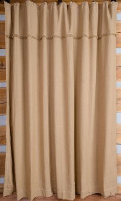 Deluxe Burlap Natural Tan Shower Curtain Our Burlap Shower Curtain measures with 12 button holes for easy hanging and highlighted with fringing cotton and machine washable Unlined tags: Source by rowan_venita Curtains decor Primitive Bathrooms, Primitive Homes, Rustic Bathrooms, Country Primitive, Primitive Decor, Primitive Shower Curtains, Burlap Shower Curtains, Rustic Curtains, Tan Shower Curtain