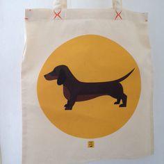 Tote bag dachshund weiner dog by SamoTheTeckel on Etsy https://www.etsy.com/listing/223639843/tote-bag-dachshund-weiner-dog