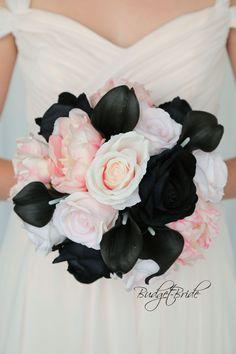 Blush Pink And Black Wedding, Pink Black Weddings, Black Wedding Themes, Pink Wedding Decorations, Dusty Rose Wedding, Cream Wedding, Blush And Gold, Purple Wedding, Gold Wedding