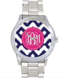 Stainless Steel Monogrammed Watch on Etsy, $60.00 www.SasssySouthernGals.etsy.com Great sweet sixteen or 18th birthday gift.  Very preppy and classy.