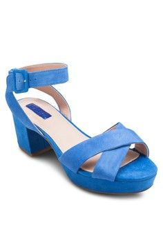 Lulu Low Cross Strap Patforms from TOPSHOP in blue_1
