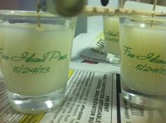 Aromatherapy soy candle DIY wedding favors!