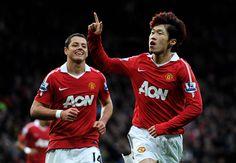 Ji-Sung Park con chicharito!! / Manchester United