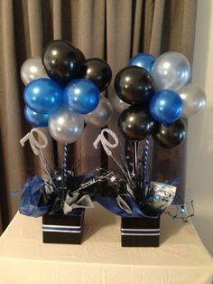 balloon topiary centerpieces for men - Google Search