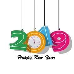 Happy new year 2019 and Merry Christmas Vector and PNG Happy New Year Images, Happy New Year 2018, New Year Wishes, Happy New Year Banner, New Years Poster, Message Quotes, New Years Decorations, Nouvel An, Kids Cards