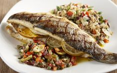 Colossal Winter Menu - Also part of the winter menu. This Meiterranean Branzino is sure to please.
