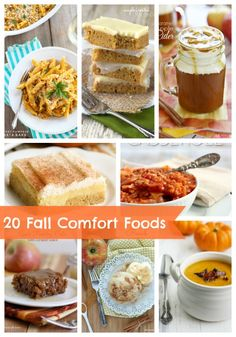 20 Fall Comfort Foods ...so many amazing recipes!