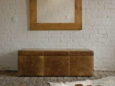 Vintage Leather Blanket Box