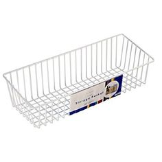 Organized Living Large Simple Basket - White  16 x 6 x 4.2 inches