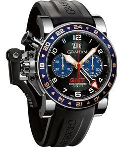 Graham Chronofighter Oversize GMT Black Steel