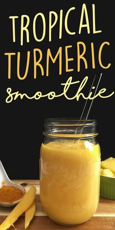 Delicious taste meets healing benefits in this Tropical Turmeric Smoothie! Just 4 simple ingredients including refreshing tropical fruits and the health benefits of turmeric come together to make a yummy, unique smoothie.