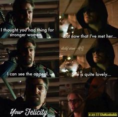 #Arrow #Olicity Felicity is strong why does nobody see this! // Yes, thank you!!