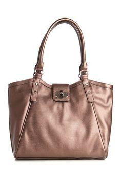 Emilie M Leslie Bronze Shoulder Bag by Emilie M