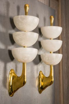 Set of Four Alabaster and Bronze Sconces | From a unique collection of antique and modern wall lights and sconces at https://www.1stdibs.com/furniture/lighting/sconces-wall-lights/