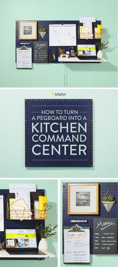 Almost every new-construction, suburban kitchen has space for a command center or mini office situation. For those of us without that sort of setup, there's the great kitchen pegboard. It's so much more useful than the alternative (hanging up a bunch of random reminders on the fridge and a pile of papers on the kitchen table). Here's an easy how to for making your kitchen more organized.