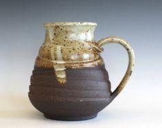 LARGE Coffee Mug, 25 oz, ceramic cup, handthrown mug, stoneware mug, pottery mug, unique coffee mug, ceramics and pottery