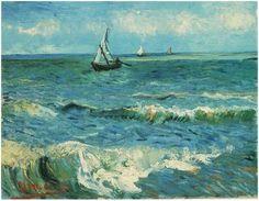 """""""Seascape at Saintes Maries"""", 1888, Vincent van Gogh."""