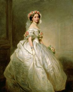 Princess Alice (Alice Maud Mary; 25.4.1843|14.12.1878) Princess Louis and Grand Duchess of Hesse and by Rhine by marriage. 3rd child of Queen Victoria + Prince Albert of Saxe-Coburg & Gotha. She died on 17th anniversary of her father's death, at the New Palace, Darmstadt. 1st of Queen Victoria's 9 children to die, 1of3 to be outlived by their mother, who lived till 1901. Mother of Tsarina Alexandra Feodorovna of Russia (Empress consort of Tsar Nicholas II)[Portrait by Franz Xaver…