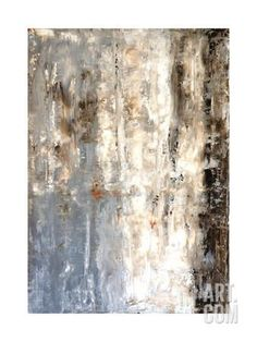 Brown And Grey Abstract Art Painting Art Print by T30Gallery at Art.com