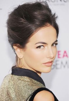 Camilla Bella Hairstyles: Messy Updo