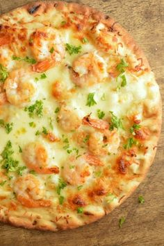 Quick and Easy Shrimp Scampi Flatbread