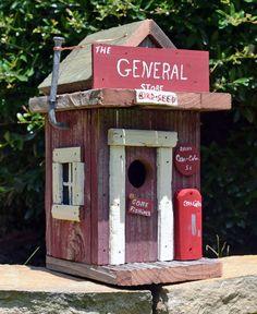 Birdhouse rustico - Birdhouse primitivo - General Store Birdhouse