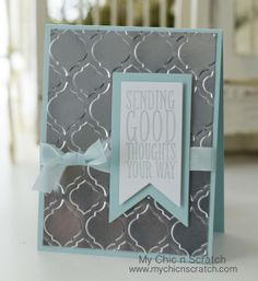 Foil Sheet Card - Angie Kennedy Juda, Foil Sheet card made with the Perfect Pennants Stamp set and Banner Framelits