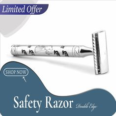 Get the finest and most comfortable shave with our PROFESSIONAL STAINLESS STEEL DE SAFETY RAZOR. Designed with premium stainless steel, it gives a stylish look which stands out from rest of the razors out there. It checks all the boxes for appearance, flawless shave, and comfort. Price: £39.95/ Shaving Razor, Wet Shaving, Best Safety Razor, Burn Free, Travel Style, Natural Hair Styles, Best Gifts, Rest, Boxes