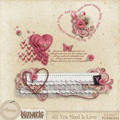 Scrapbooking TammyTags -- TT - Designer - Kimeric Kreations,  TT - Item - Word Art, TT - Style - Cluster, TT - Theme - Love, Valentines, or Wedding
