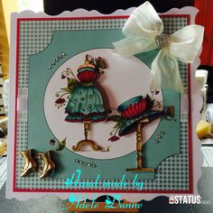 From Katy Sue / House of Zandra 'Fashion' CD rom Decoupage Paper, Paper Piecing, Paper Crafting, Making Ideas, Handmade Cards, Card Ideas, Birthdays, Projects To Try, Card Making
