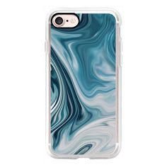 Modern Blue Marble - Fall - Winter Inspired Case - iPhone 7 Case,... (53 CAD) ❤ liked on Polyvore featuring accessories, tech accessories, iphone case, blue iphone case, apple iphone cases, iphone cases and iphone cover case