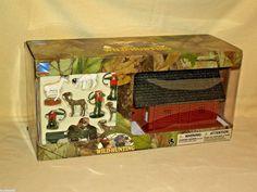 Hunting Playset Lodge New Ray Wild Cabin New 2013 Deer Hunters 4 Wheeler Wagon #NewRay