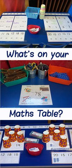 Learn maths the fun way, what do you have on your maths table for your students to explore number?