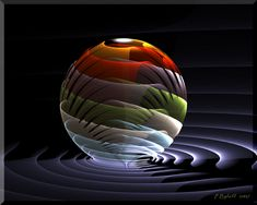 Multi-layered glass sphere