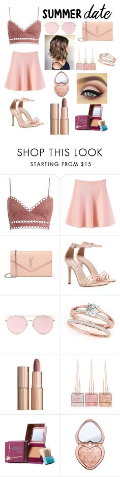 """Untitled #46"" by xdhx16 ❤ liked on Polyvore featuring Zimmermann, WithChic, Yves Saint Laurent, LMNT, Charlotte Tilbury, Christian Louboutin, Benefit and Too Faced Cosmetics"